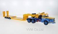 1:43 BERLIET TB 015 M3 6x4 с прицепом-тяжеловозом 1960 Blue/Yellow