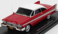 "1:43 Plymouth Fury from the movie ""Christine"" 1958 (red / white)"
