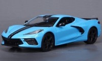 1:24 CHEVROLET Corvette C8 Stingray Z51 2020 Light Blue