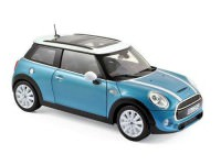 1:18 MINI COOPER S 2015 Electric Blue Metallic/White