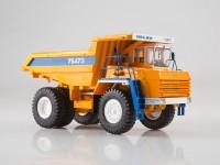 1:43 БелАЗ-75473 карьерный самосвал, оранжевый / синий