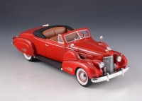 1:43 CADILLAC V16 Convertible Coupe (открытый) 1938 Red