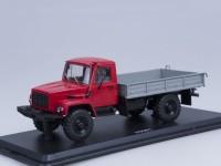 1:43 Горький тип 33081 4х4 (двиг. Д-245.7 Diesel Turbo) выставочный (красный / серый)