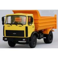 1:43 МАЗ 555102 самосвал (1991-1999) (желтый / оранжевый)
