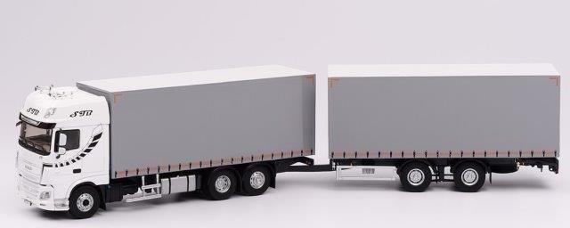 """1:43 DAF XF 480 грузовик с прицепом """"STB"""" 2017"""
