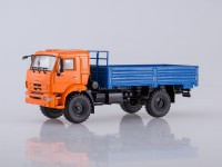 1:43 КАМАЗ-43502 бортовой (оранжевый,синий кузов)