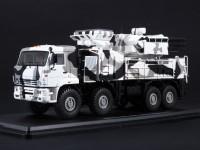 1:43 КАМский грузовик-6560 ЗРПК 96К6 (Панцирь-С1) камуфляж Арктика