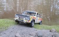 1:43 LADA - 1500 S (VAZ - 2103) USSR  Kastytis Girdauskas / Vilius Rozukas.  WRC Rally 1000 Lakes Finland 1976.