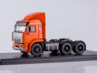 1:43 КАМАЗ-6460 седельный тягач (спойлер,оранжевая кабина)