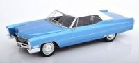 1:18 CADILLAC Deville Convertible (закрытый) 1968 Metallic Light Blue/White