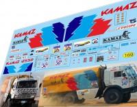 1:43 набор декалей Камский грузовик №347 ралли Фараонов 1990