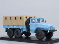 1:43 Уральский грузовик 375Д бортовой с тентом (голубой)