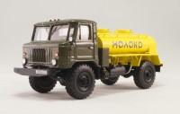 1:43 В1-ОТА-1,8 Цистерна для перевозки молока на шасси Горький-66-11 (1988 г.) (желтая бочка)