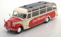 "1:43 автобус BORGWARD BO 4000 ""Insel-Rundfahrt"" 1952 Beige/Red"