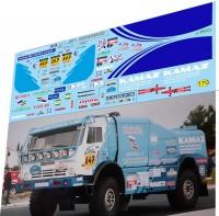 1:43 набор декалей Камский грузовик №647 дакар 2003