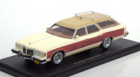 1:43 PONTIAC Grand Safari 1976 White/Wooden