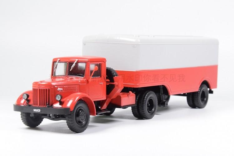 1:43 МАЗ-200В с полуприцепом МАЗ-5217, Автолегенды СССР Грузовики. Спецвыпуск