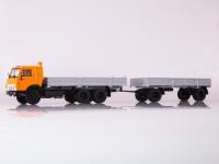 1:43 Камский грузовик-53212 с прицепом ГКБ-8350 оранжевый/серый