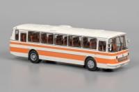 1:43 ЛАЗ-699Р (Бело-оранжевый, две полосы),тираж 250 штук