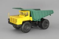 1:43 БелАЗ-548 самосвал, желтый / зеленый