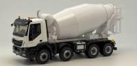 1:43 IVECO Trakker Hi-Land Euro 6 8x4 бетономешалка 2016 White