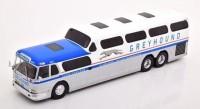 "1:43 автобус GMC Scenicruiser ""Greyhound"" 1956 White/Silver"