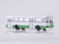 1:43 Ликинский автобус-677М городской (белый/зелёный)