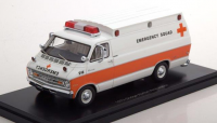 "1:43 DODGE Horton Ambulance ""Emergency Squad"" 1973 White/Orange"