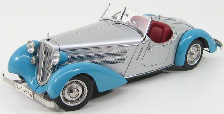1:18 Audi 225 Front Roadster 1935, L.e. 4000 pcs. (blue / silver)