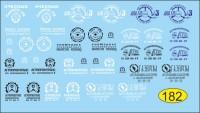 1:43 набор декалей Логотипы предприятий