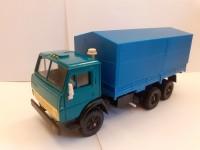 1:43 КАМСкий грузовик-5320 зеленый с синим тентом
