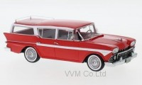 1:43 RAMBLER Customs Cross Country 6 Station Wagon 1958 Red/White
