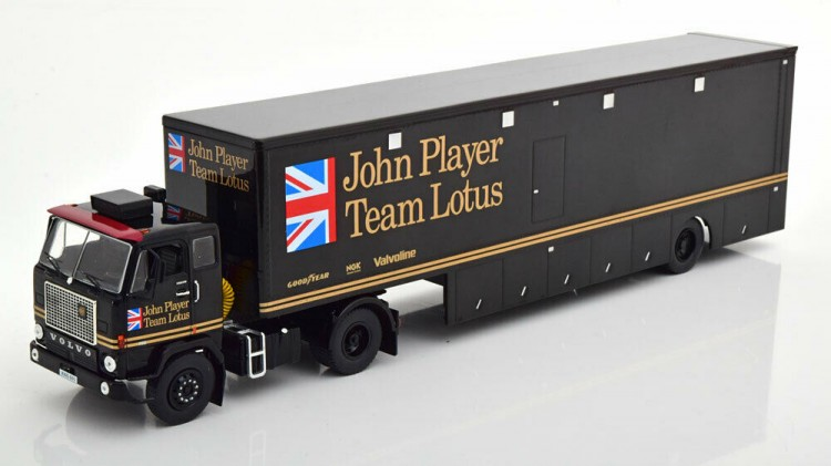 "1:43 VOLVO F88 Race Transporter c полуприцепом ""John Player Team Lotus"" 1972 Black"