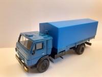 1:43 КАМский грузовик-5325 синий с тентом