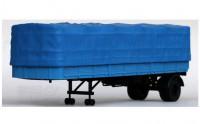1:43 МАЗ-93801/2 полуприцеп с тентом, синий
