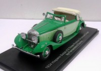 1:43 Hispano-Suiza J12 Drophead Coupe by Fernandez & Darrin (Paris)  half open, 1934 (2 tone green)
