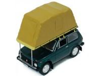 """1:43 ВАЗ 2121 """"НИВА""""  с палаткой 1981 Green"""