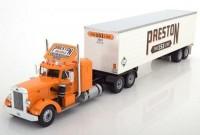 "1:43 PETERBILT 350 с полуприцепом ""Preston People"" 1952 Orange/White"