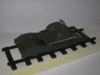 1:43 Танкетка TKS на железнодорожном ходу
