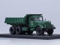 1:43 ЯАЗ-210Е самосвал, тёмно-зелёный /металл. рама, кузов, кабина/