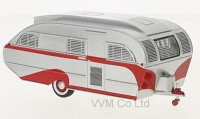 1:43 трейлер AERO FLITE Falcon Travel Trailer 1947 Silver/Red