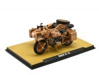1:24 мотоцикл BMW R75 с коляской и пулемет MG42 German DAK Afrika 1942