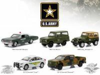 1:64 набор 5 машин U.S. Army Chevy'67/Ford Bronco'67/Wrangler'95/Chevy Cruze/Chevy Silverado 2015