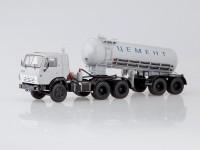 1:43 КАМАЗ-54112 с полуприцепом-цементовозом ТЦ-11