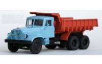 1:43 КрАЗ 222Б самосвал (1963-1966) (голубой/кирпичный)