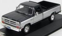 1:43 DODGE RAM Pick Up 1987 Black/Silver