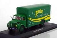 """1:43 BERLIET GLR 8M фургон """"Perrier"""" 1960 Green/Yellow"""