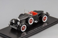 1:43 Stutz Blackhawk Boattail roadster 1928 open roof (black)