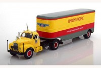 "1:43 MACK B61 с полуприцепом ""Union Pacific"" 1955 Light Yellow/Red/Grey"