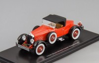 1:43 Stutz Blackhawk Boattail roadster 1928 closed roof (red / black)